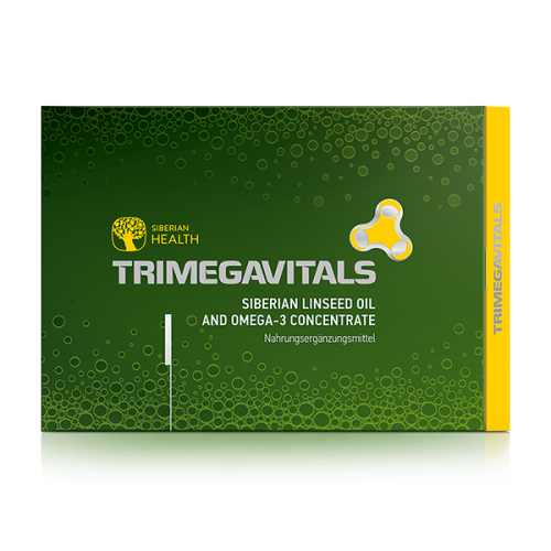 NEM Trimegavitals. Siberian linseed oil and omega-3 concentrate, 30 Kapseln 500062
