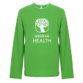 Promo T-shirt for men (color: green, size: 48/L, long sleeves)