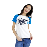 Siberian Super Team T-shirt for women (color: white, size: XS)