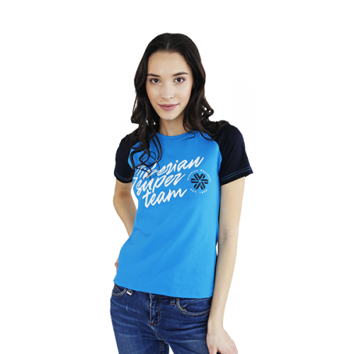Siberian Super Team T-shirt for women (color: blue, size: S) 107011