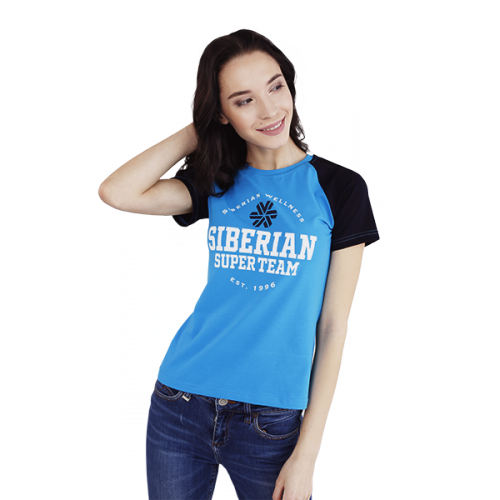 Siberian Super Team CLASSIC T-shirt for women (color: blue, size: S) 107009
