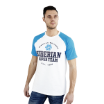 Siberian Super Team CLASSIC T-shirt for men (color: white, size: L)