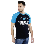 Siberian Super Team CLASSIC T-shirt for men (color: blue, size: M)