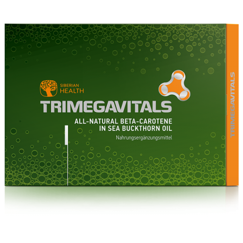 Complemento alimenticio Trimegavitals. All-natural beta-carotene in sea buckthorn oil, 30 cápsulas 500060
