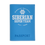 Passport cover  Siberian Super Team (color: light blue)
