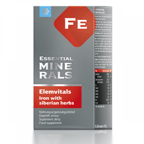 БАД ElemVitals. Iron with siberian herbs, 60 капсул 500039
